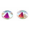 Crystal Sew-on Stone Round 12mm (4pcs) Crystal Aurora Borealis